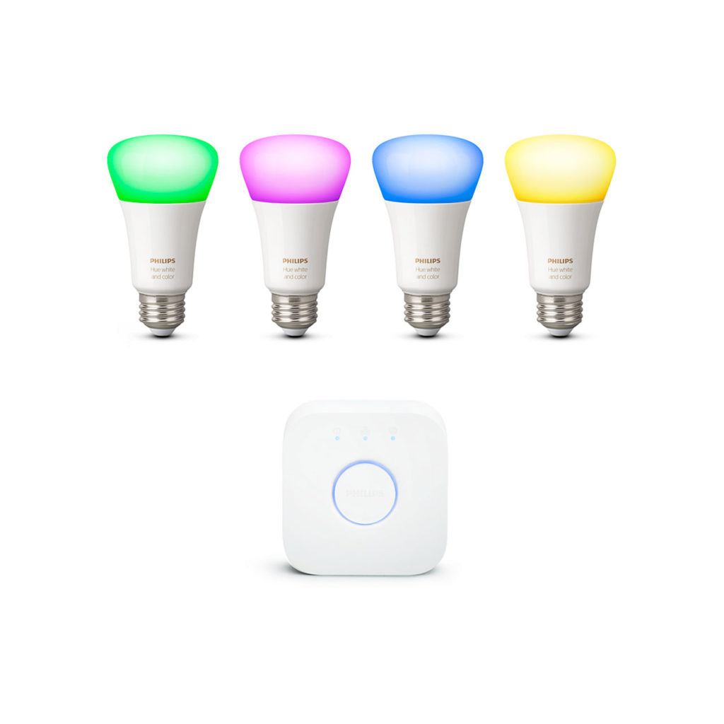 Philips Hue White and Color Starter Kit - most climate-friendly smart LED light bulbs